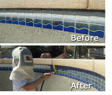 pool service tile cleaning mesa